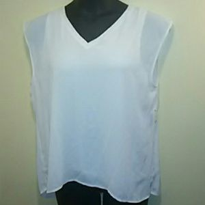 Bar III white sleeveless shirt